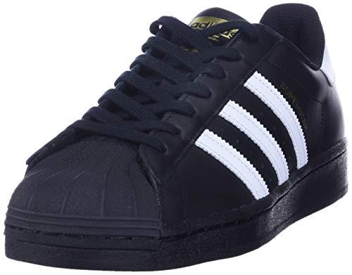 adidas Originals Superstar Herren Sneaker, (schwarz), 39 EU