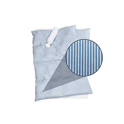 DORIS MEYER Interlock-Jersey Bettwäsche Tom bleu 1 Bettbezug 135 x 200 cm + 1 Kissenbezug 80 x 80 cm