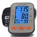 Konquest KBP-2704A Automatic Upper Arm Blood Pressure Monitor - Adjustable Cuff - Large Backlit Display - Irregular Heartbeat & Hypertension Detector - Tensiometro Digital