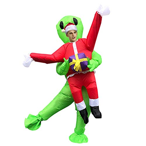 N \ A Halloween Costumes and Props Inflatable Clothes Christmas Tree Inflatable Clothes Holiday Party Clothes (Snowman Adult)