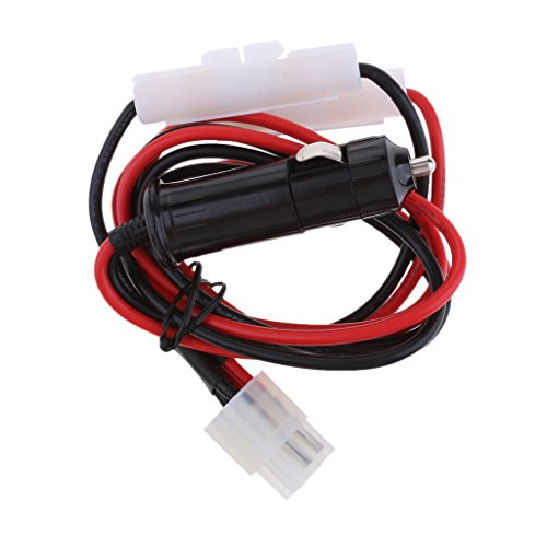 IPOTCH Cable de Alimentación Universal del Transmisor del Vehículo del Coche para FT-857D, FT-897D, IC-725A