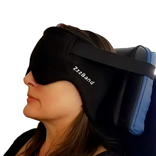 ZzzBand - Pilot Created Travel Pillow Alternative - The Necks Best Thing to First Class - One Size Black - Patented
