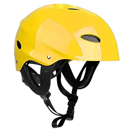 Sandis Casco Protector de Seguridad 11 Agujeros de Respiración para Deportes Acuáticos Kayac Canoa Tabla de Surf Paleta - Amarillo
