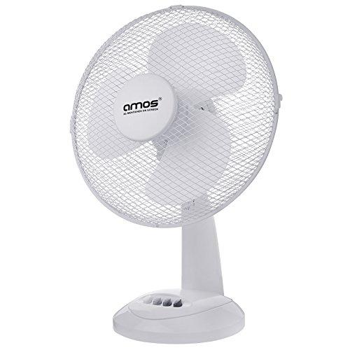 AMOS 12' 30cm Ventilateur Oscillant de Bureau Table Brasseur d'air Électrique Portable Réglable à 3 Vitesses pour Maison Bureau …