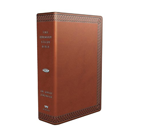 The Jeremiah Study Bible, NKJV: (Brown w/ burnished edges) LeatherLuxe® w/thumb index: What It Says. What It Means. What It Means for You.