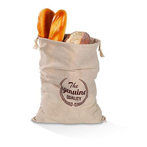 JSFC Brottasche aus Leinen BrotKorb 100% Leinen Aufbewahrung Wiederverwendbarer Brotsack mit Kordelzug für das sichere Aufbewahren von Brot und Gebäck allerart,E