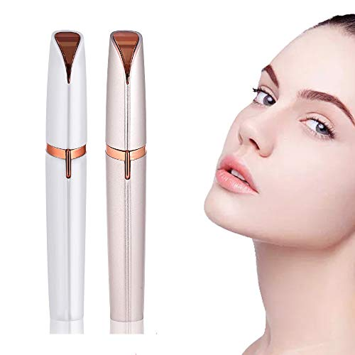 Facial Hair Removal for Women, Electric Eyebrow Remover Trimmer, Portable Painless Facial Hair Removal Epilator/Depilator for Face, Chin, Underlips, Cheek, Eyebrow, Peach Fuzz
