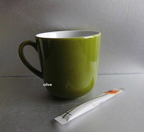 Dibbern Solid Color - Becher mit Henkel 0,32 l - Oliv - NEU