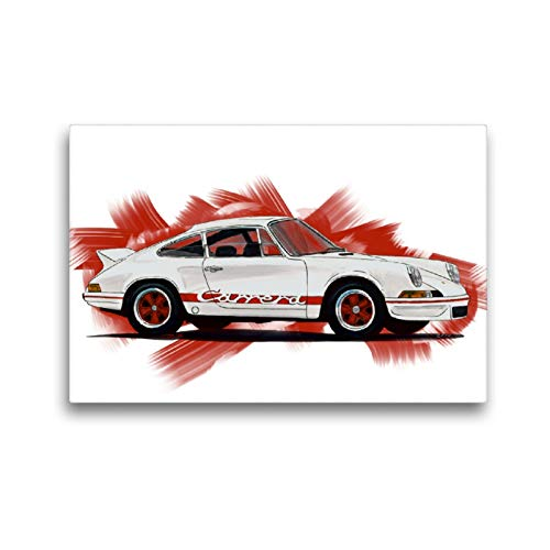 CALVENDO Premium Textil-Leinwand 45 x 30 cm Quer-Format Porsche 911 Carrera RS, Leinwanddruck von Reinhold FineArt
