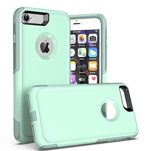 Krichit Pioneer Series Compatible with iPhone 8 Case/iPhone 7 Case (2nd gen,Does not Show Logo), Dual Layer Design, Military Grade Drop Protection Protection Case (Not Plus) (Aqua SAIL)
