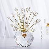 H & S di Cristallo Bonsai Fortune Money Tree Figurine con AB Perline Finestra Suncatcher Decor Fiore all'occhiello per buona Fortuna, prosperità ricchezza
