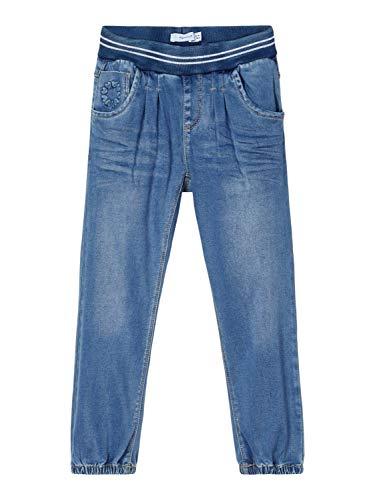 NAME IT Baby-Mädchen NMFBIBI DNMTORAS 2468 Pant NOOS Jeans, Medium Blue Denim, 104