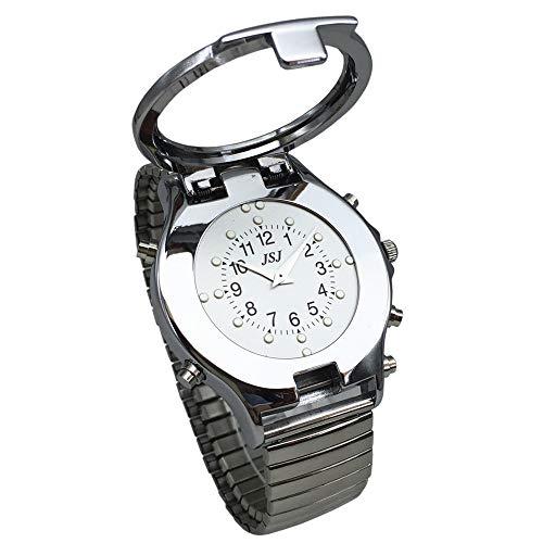 Sprechende und taktile Uhr für Blinde oder Sehbehinderte oder ältere Menschen mit erweiterbarem Armband