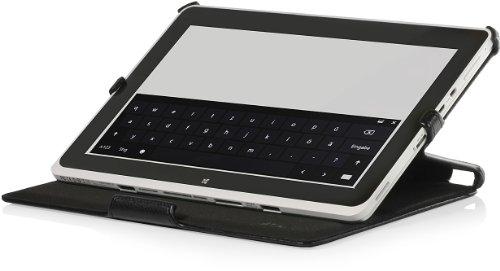 StilGut UltraSlim Case extrem flaches Etui mit Stand- und Präsentationsfunktion passend für Acer Iconia Tab W510 W511 in schwarz