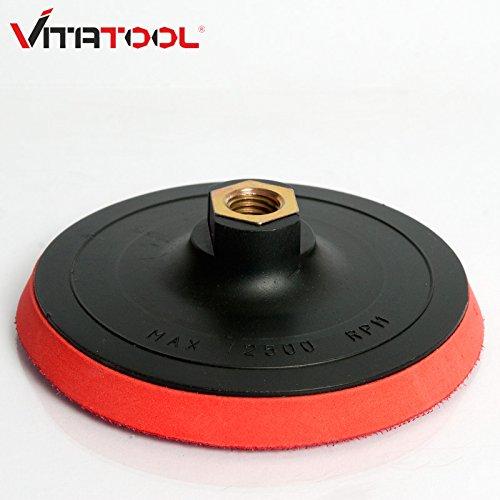 Vitatool® Klett-Schleifteller Ø 125 mm mit M14 Aufnahme und Spanndorn für Bohrmaschine