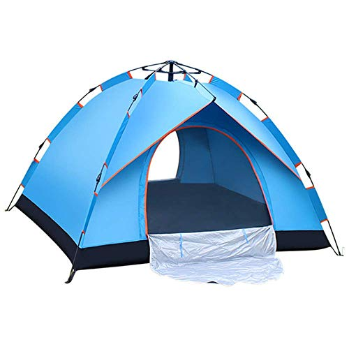 2 person tent 4 season waterproof camping tent with instant setup outdoor camping tent (82.6'* 59' * 51') blue