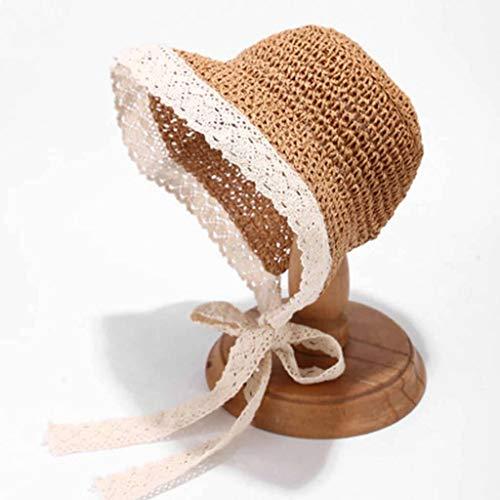 Visera Cordón,Mujer Vendaje Sombrero para El Sol Manual Tiene Verano Viaje Sombrero...