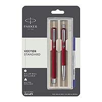 Parker Vector Standard Roller Ball Pen and Ball Pen - Red Body
