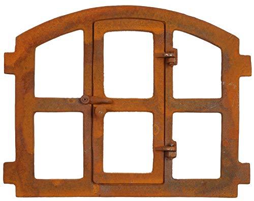 Stallfenster Fenster zum öffnen Scheunenfenster Eisen 51x42cm im Antik-Stil