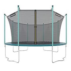 Ultrasport Utomhus trädgård trampolin jumper, trampolin komplett set inklusive hoppmatta, skyddsnät, vadderad nätstolpar och kantskydd, grön, 180 cm