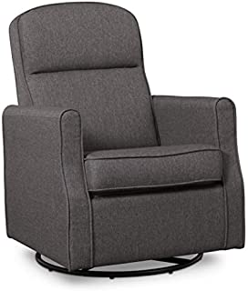 Delta Children Blair Slim Nursery Glider Swivel Rocker Chair, Charcoal
