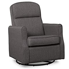 Durable steel mechanisms to ensure quiet movements Armrests are thickly padded for comfort Removable cushion for easy cleaning; Spot clean with mild soap and water Whisper quiet, gentle glide motion with soothing swivel action Assembled dimensions: 2...