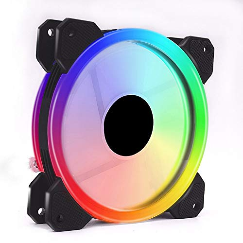 Rainbow Lights RGB - Ventilador de refrigeración de color ajustable (120 mm, LED, mando silencioso)