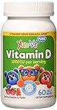 YUM-V's Vitamin D (1000 IU) Chewable Jellies (Gummies) for Kids, Yummy Berry Flavor (60 Ct); Daily Dietary Supplement with Essential Vitamins – Kosher, Halal, Gluten Free Children's Vitamins