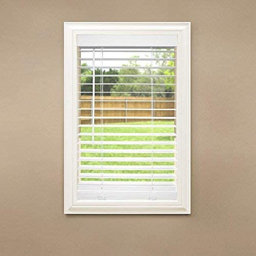high quality Cut to Width white Cordless 2 in. Faux Wood wholesale Blind - 36 in. W x 64 sale in. L online