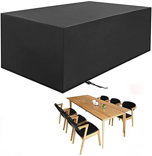 IQOAIJ Fundas para Muebles de jardín, Fundas para Muebles de Patio Impermeables 210D Tela Oxford Resistente para Exteriores,170x94x70