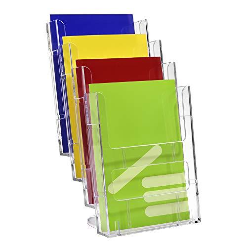 DIN A5 Tischprospekthalter mit 4 Etagen/Prospektständer/Prospekthalter/Flyerständer/Flyerhalter