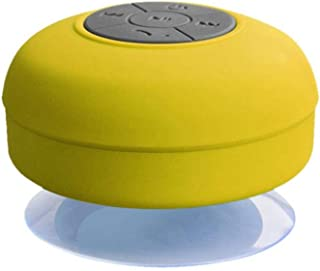 Inwa Waterproof Wireless Bluetooth Speaker Bathroom Mini Fashionable Musical Instruments with Suction Cup Built-in Microphone - Yellow