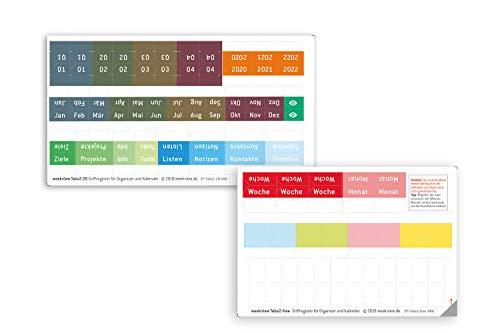 weekview Tabs - für den schnellen Kalender- und Notizbuch-Zugriff | Woche, Monat, Übersichten + frei definierbare Reiter | mit den beliebten Stickern S