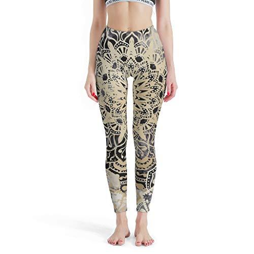 XHJQ88 -Europese Broek Strakke Ankels Vrouwen, Yoga Ontwerp Broek Mandala Wonderland In Goud Patronen Print Zomer Capri Panty Capris Broek voor Vrouwen Losse