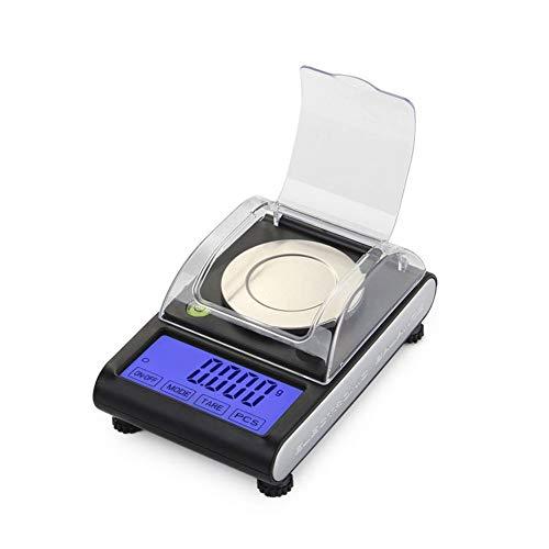 CDZJP Mini Elektronische digitale weegschaal met vloeibare kristallen, Precision Pocket + post sieraden weegschaal digitale keukenweegschaal draagbaar 50 g/0,001 G