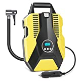Air Compressor Tire Inflator, Linkax Portable Air Pump with Display for Car Tires