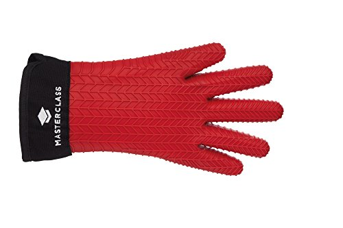 KitchenCraft - Guante para horno con dedos, silicona, color rojo, talla única