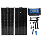 Panel solar monocristalino de 300 W, 12 V: 2 unidades de 150 W...