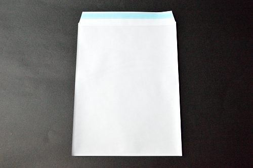 PFメール A4 【2,000枚】 フィルム+紙封筒 切手/筆記可 静電気防止処理テープ付き 折線付き 表:全面白紙/裏:透明 OPP50μ(0.05mm) 紙80g UV印刷可
