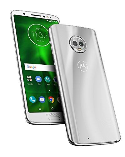 motorola moto g6 64GB 5.7-Inch Android 8.0 Oreo UK Sim-Free Smartphone with 4GB RAM and 64GB Storage (Dual Sim) - Silver (Exclusive to Amazon)