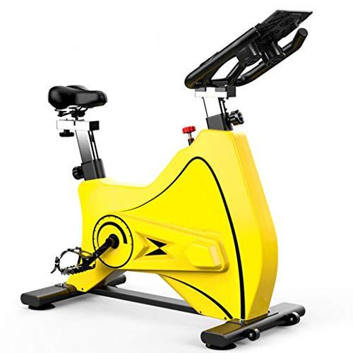 APP-hometrainer, cardio-hometrainer verstelbaar stuur en stoel Smart leest snelheid afstand tijd calorieën,Yellow