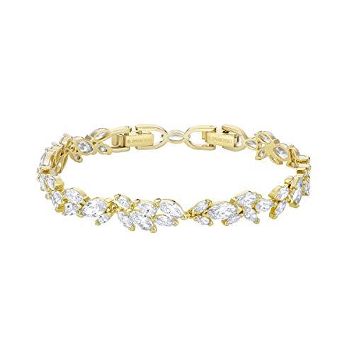 Swarovski Louison Armband, Weiß, Vergoldet