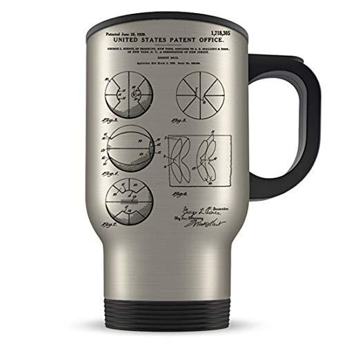 Taza de viaje de baloncesto, regalo de baloncesto, idea de regalo de baloncesto, regalo temático de baloncesto, taza de bball, regalo de patente