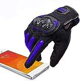 ARTOP Guantes Moto Motocross Verano Anti-Deslizante Anti-Colisión con Dedo Táctil Muy Buena Protección para Hombres (Azul, XL)