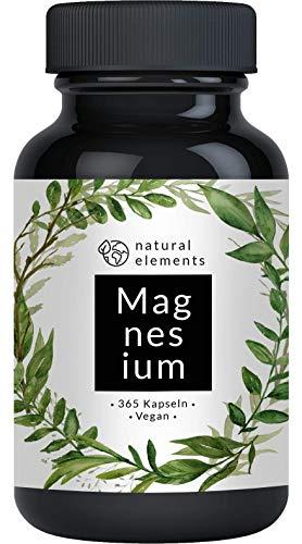 Premium Magnesiumcitrat - Vergleichssieger 2020* - 2250mg davon 360mg elementares Magnesium pro Tagesdosis - 365 Kapseln - Laborgeprüft und hochdosiert