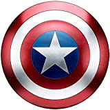 Escudo Capitan America Metal 1: 1 Adulto Apoyos de Película Niños Hierro Forjado CapitáN AméRica Shield Vengadores Retro Wall Creative Shield Bar Decoración Reloj De Pared A,47cm