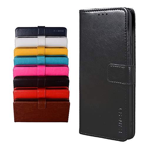 BRAND SET Schutzhülle für TP-Link Neffos X20 Handyhülle Brieftasche Kunstleder mit Magnetverschlussverriegelung & Stent-Funktion Geeignet Flip Handyhülle für TP-Link Neffos X20(Schwarz)