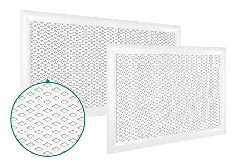 Heizkörperverkleidung | hitzebeständige MDF Platte | Heizung | Abdeckung | modern | Lüftungsgitter | verschiedene Größen | 60 x 60 cm | Rombo