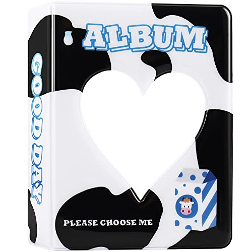 ACHOI Mini álbum de fotos de 3 pulgadas para Fujifilm Instax Mini 11 7s 8 8+ 9 25 26 50s 70 - Kpop fototarjeta titular libro (vaca lechera)