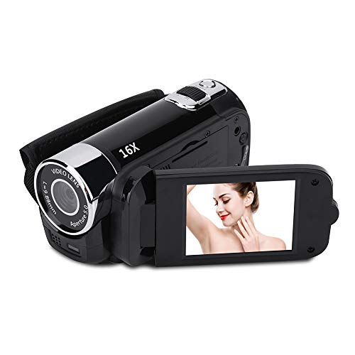 VBESTLIFE Full HD 270 ° Rotation 720P 16X High Definition Digital Camcorder Video DV Kamera(schwarz)